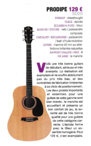 SD20 Guide achat 2018 - Guitarist Acoustic Unplugged